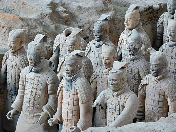 Terracotta warriors at the Mausoleum of the First Emperor near Xi'an, China