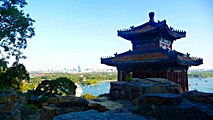 Beijing - Summer Palace - Kunming Lake and city vista - John Barker - 213 x 120