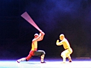 Beijing - martial arts show 1 - Dave and Melody - 187 x 140