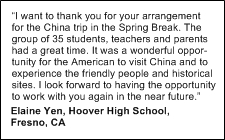 A China International Travel CA customer testimonial