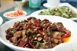 Sichuan-style dishes in Chengdu (成都), China
