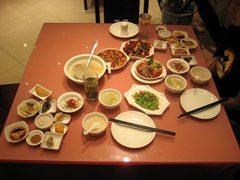 A Sichuan-style meal in Chengdu (成都), China