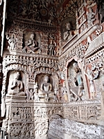 Buddhist carvings at the Yungang Grottoes near Datong (大同), China