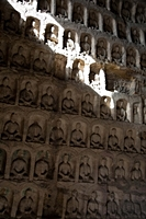 Row upon row of Buddha carvings at the Yungang Grottoes near Datong (大同), China