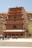 The entrance to the Great Buddha Cave at the Mogao Caves near Dunhuang (敦煌), China