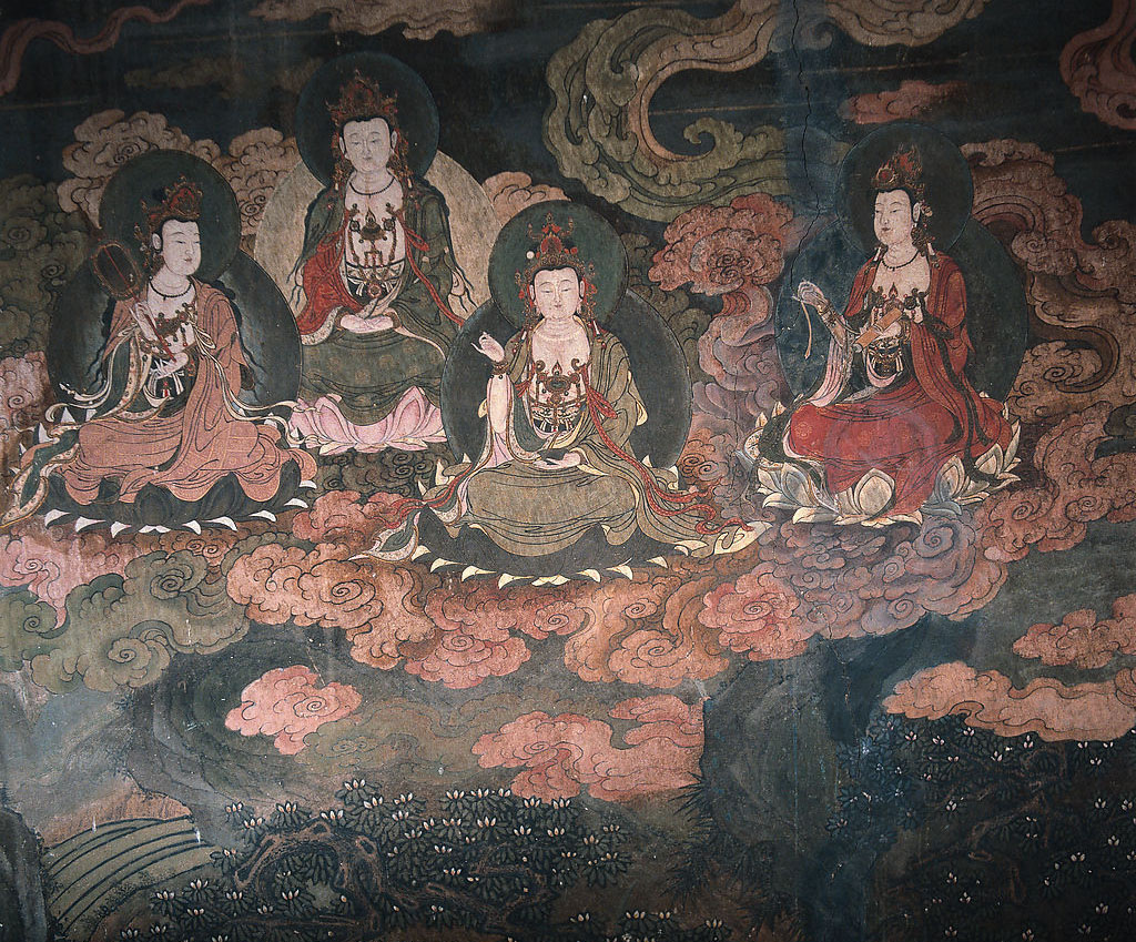 Dunhuang photos and information china international for Buddha mural paintings