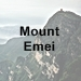 Emeishan (Mount Emei) icon with text - 75 x 75