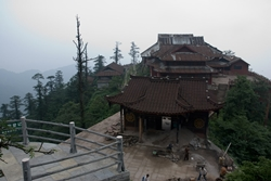 A monastery atop Mount Emei or Emeishan (峨眉山) in Sichuan Province, China