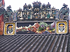 Roof decorations on the Chen Clan Ancestral Hall (also called Chen Clan Academy) in Guangzhou, China