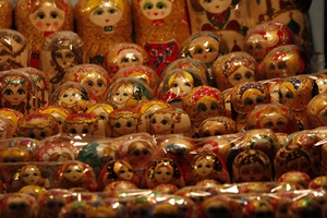 Russian dolls for sale in Harbin, China
