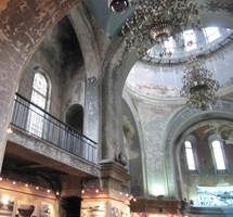 The interior of St. Sophia Cathedral, Harbin, China