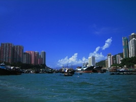Boats in Hong Kong's Aberdeen Harbour