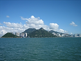 A view of Hong Kong Island from the Cheung Chau ferry