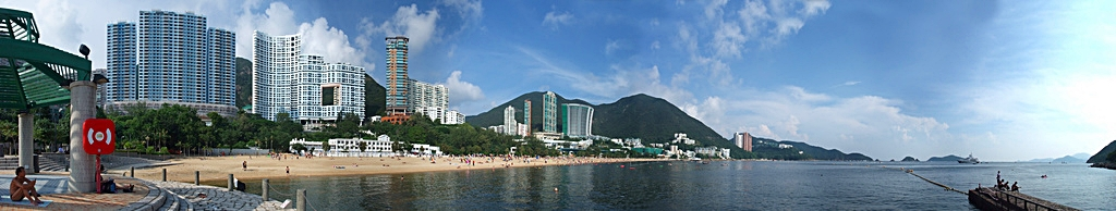 A panoramic view of Hong Kong's Repulse Bay