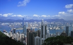 view of Victoria Harbour and downtown Hong Kong from Victoria Peak - desktop wallpaper - 1280×800 - thumbnail