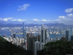 view of Victoria Harbour and downtown Hong Kong from Victoria Peak - desktop wallpaper - 1600×1200 - thumbnail