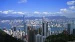 view of Victoria Harbour and downtown Hong Kong from Victoria Peak - dekstop wallpaper - 1600×900 - thumbnail