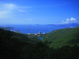 The view to the west-southwest from Hong Kong's Victoria Peak, including Cheung Chau and part of Lantau Island