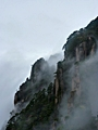 The misty cliffs of Huangshan (Yellow Mountain), China