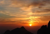 Sunrise at Huangshan (Yellow Mountain), China