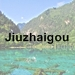 Jiuzhaigou icon with text - 75 x 75