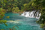 Jiuzhaigou - lake and falls - Christopher - 180 x 120