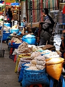 Bulk foodstuffs for sale at Barkhor Street in Lhasa (拉萨), Tibet, China