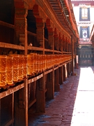 Prayer wheels at Jokhang Temple (大昭寺) in Lhasa (拉萨), Tibet, China