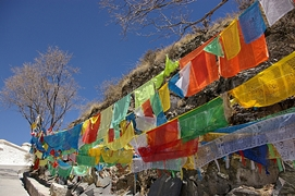Prayer flags at Potala Palace (布达拉宫) in Lhasa (拉萨), Tibet, China