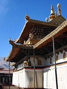 A section of the ornate roof of Potala Palace (布达拉宫) in Lhasa (拉萨), Tibet, China