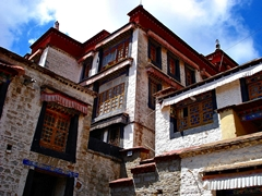 Adjacent buildings at Sera Monastery (色拉寺) in Lhasa (拉萨), Tibet, China