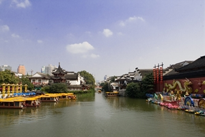 The Qinhuai River at Nanjing's Confucius Temple