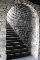 A stairway tunnel in the Ming City Wall in Nanjing, China