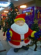 A pig-like Santa statue in Shanghai, China