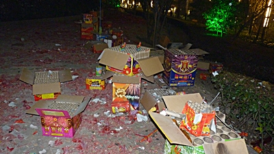 Shanghai - Chinese New Year firework remnants