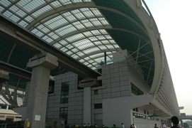 A Maglev Train station in Shanghai, China