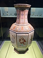 Famille Rose Eight Immortals Vase in the Ceramics Gallery of the Shanghai Museum