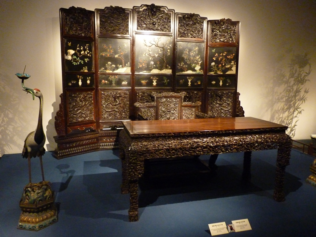 Rectangular Table And Throne Chair In The Furniture Gallery Of The Shanghai  Museum ...