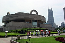 The exterior of the Shanghai Museum in the People's Square