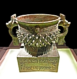 A spiked bronze food vessel in the Shanghai Museum
