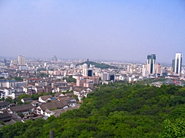 Shaoxing cityscape - view of downtown