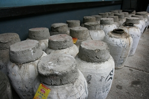 traditional Shaoxing wine jars