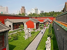 A courtyard in the Former Imperial Palace, or Mukden Palace, in Shenyang (沈阳), China