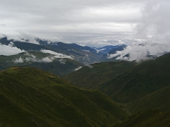 Mountains near Songpan, Huanglong, and Mounigou in Sichuan Province, China