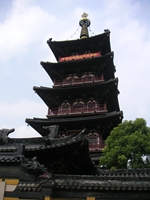A pagoda at Cold Mountain Temple in Suzhou (苏州), China