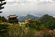 Taishan (Mount Tai) - mountainside temple - Mark Tu - 180 x 120