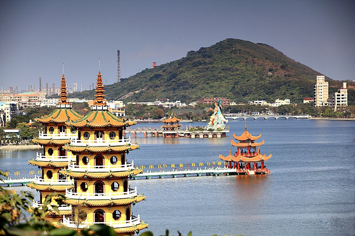Pagodas at Lotus Lake, Kaohsiung, Taiwan