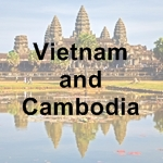 Vietnam and Cambodia icon with text - 150 x 150