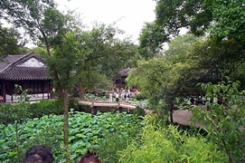 A lushly landscaped traditional garden in Wuxi (无锡), China