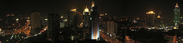 Downtown Wuxi (无锡), China, at night